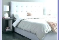 Light Grey Upholstered King Bed