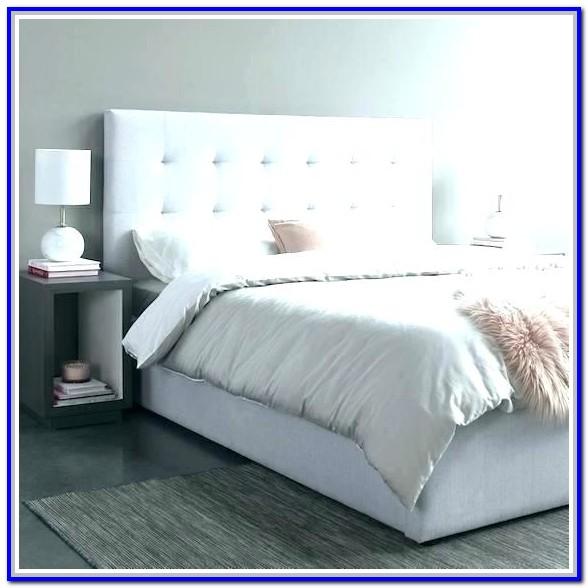 Light Grey Upholstered King Bed