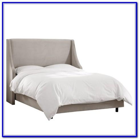 Light Grey Velvet Upholstered Bed