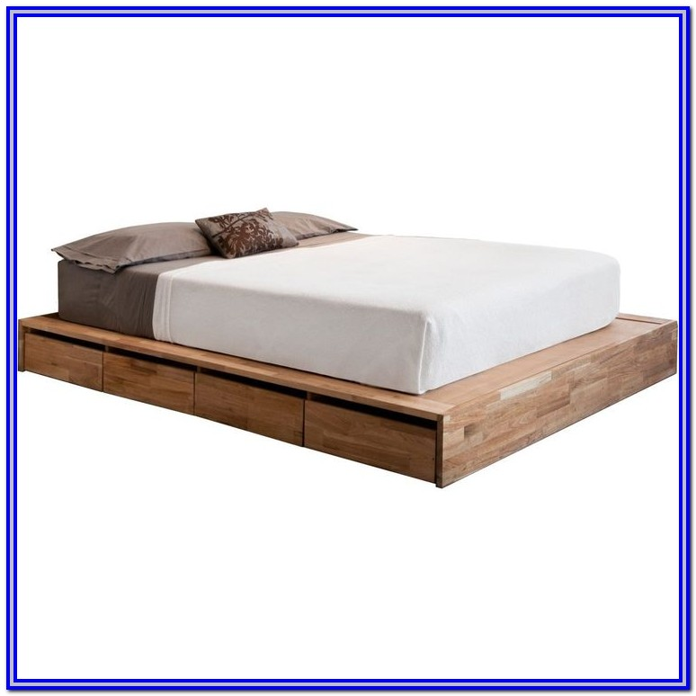 Low Platform Bed Frame With Headboard