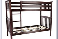 Max & Lily Solid Wood Twin Over Twin Bunk Bed