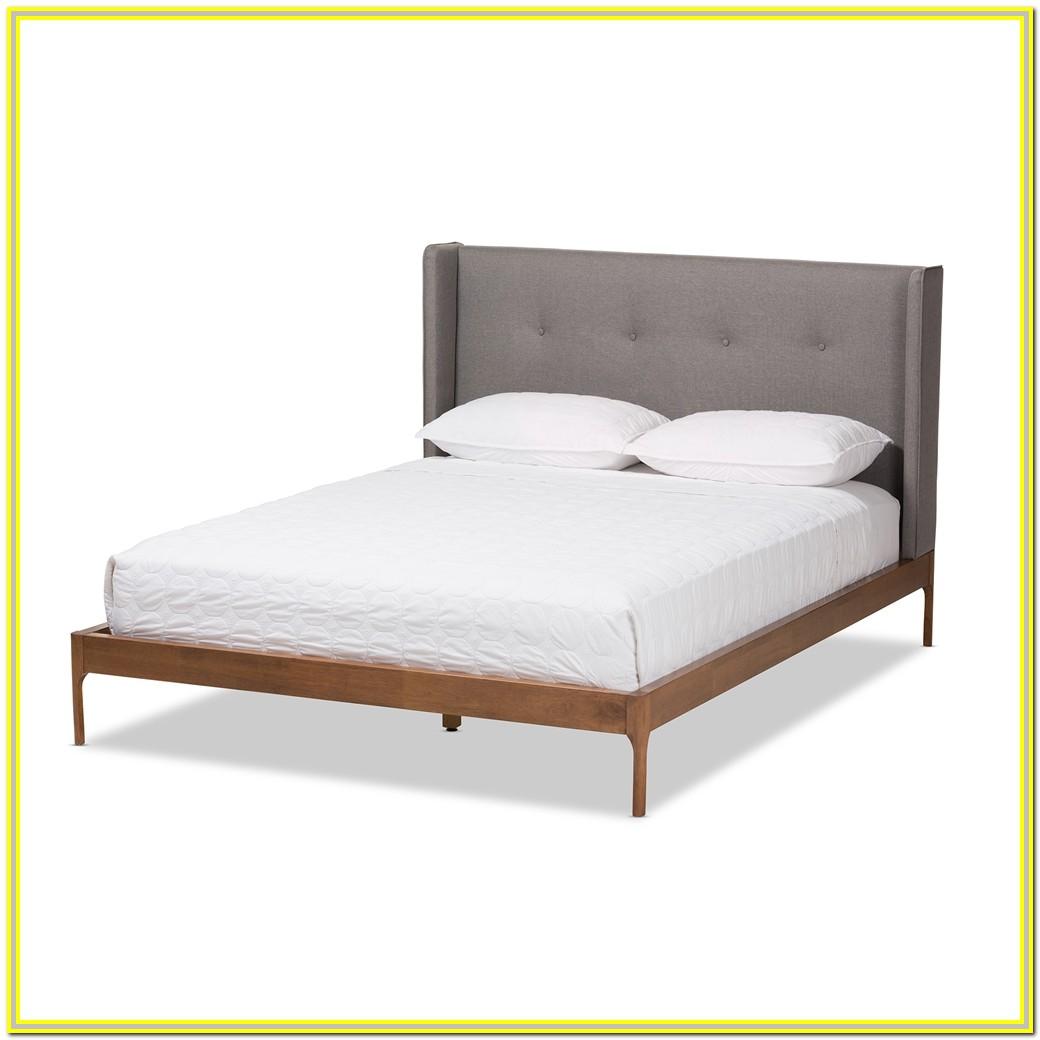 Mid Century Platform Bed King Walnut