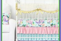 Mint Green And Gold Crib Bedding