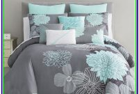 Mint Green And Gray Bedding