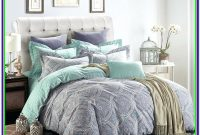 Mint Green And Grey Comforter
