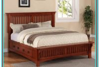 Muse Home Inc Wood Platform Bed Frame Rustic Style