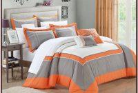Orange And Gray Bedding