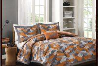 Orange And Gray Bedding Sets