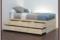 Platform Bed With Drawers Without Headboard
