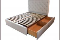 Queen Platform Bed Frame With Storage And Headboard
