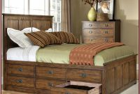 Queen Platform Bed With Storage Drawers And Headboard
