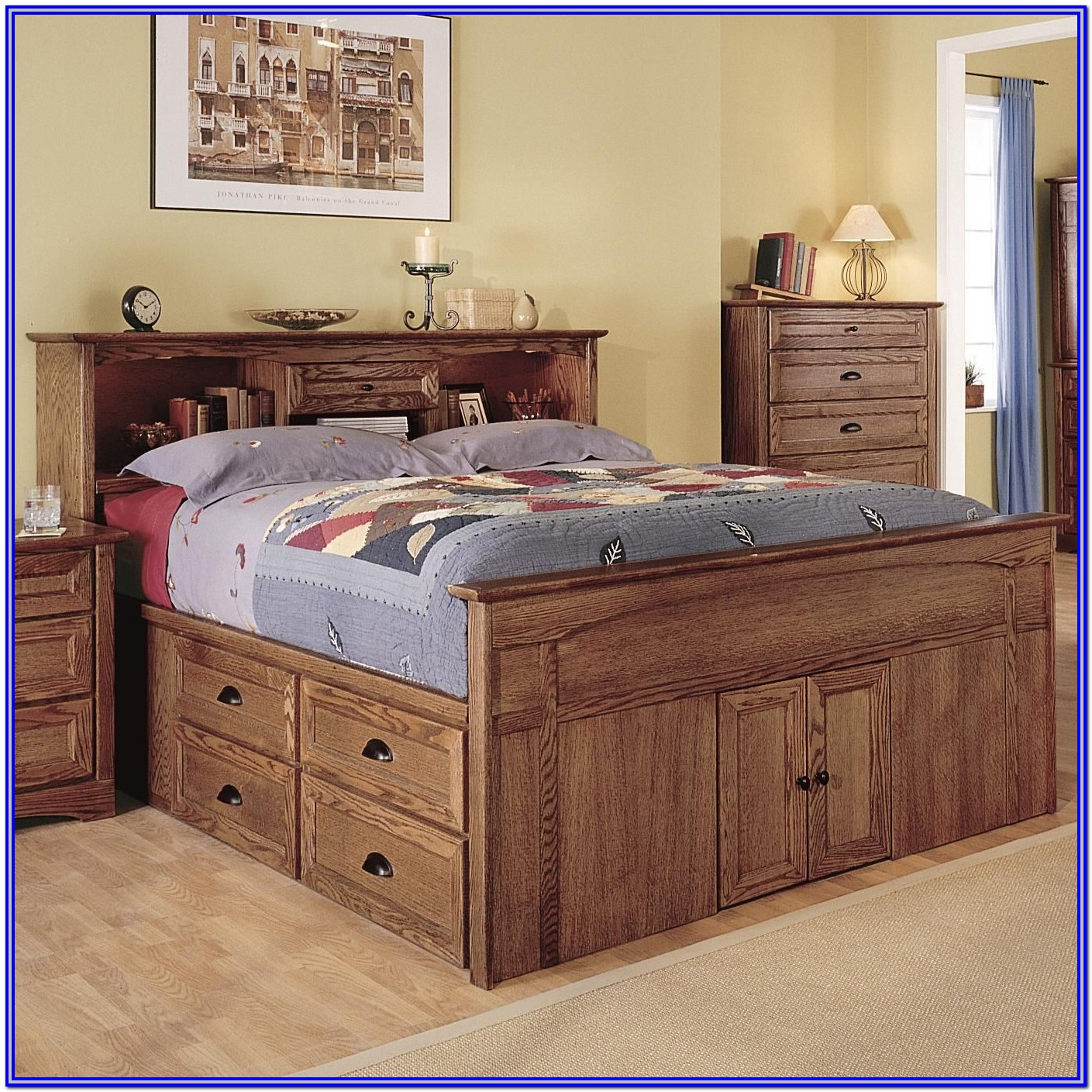 Queen Size Captains Bed Frame
