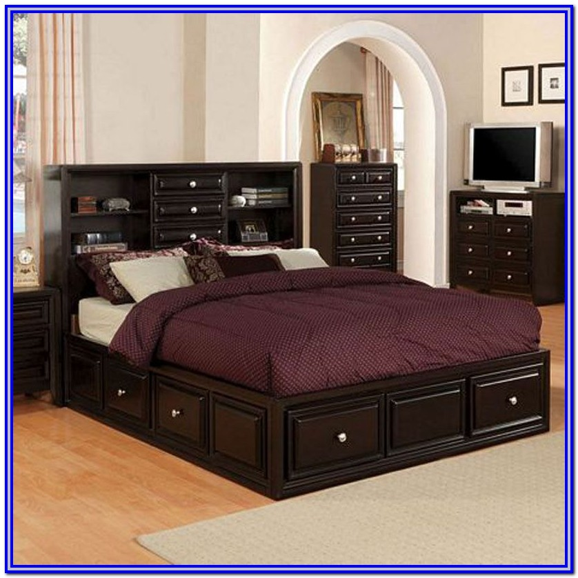 Queen Size Captains Bed With Drawers