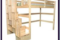 Queen Size Loft Bed With Desk And Stairs