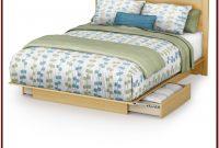 Queen White Wood Platform Bed With Storage