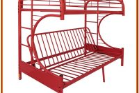Red Metal Bunk Bed Twin Over Twin