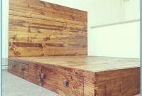 Rustic King Size Platform Bed Frame