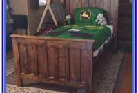 Rustic Wood Bed Frame Queen