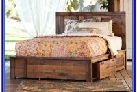 Rustic Wood Bed Frame With Storage