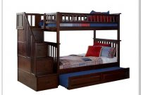 Twin Bunk Beds With Stairs And Trundle