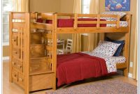 Twin Loft Bunk Bed With Stairs