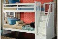Twin Over Full Bunk Bed With Stair Storage Drawers