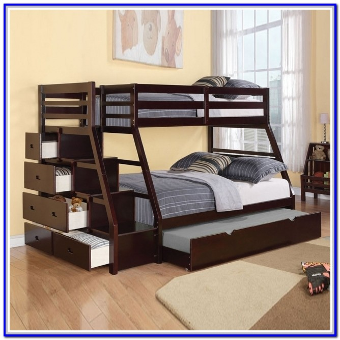 Twin Over Full Bunk Beds With Mattresses Included