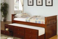 Twin Size Trundle Bed With Storage