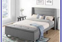 Upholstered Storage Platform Bed Full Size