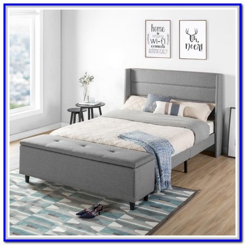 Upholstered Storage Platform Bed Full Size
