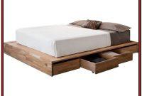 White Platform Bed Frame With Storage