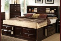 White Queen Bed With Storage And Headboard