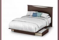 White Queen Size Platform Bed With Storage