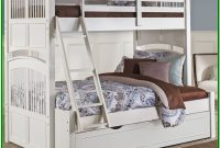 White Twin Over Full Bunk Bed With Trundle