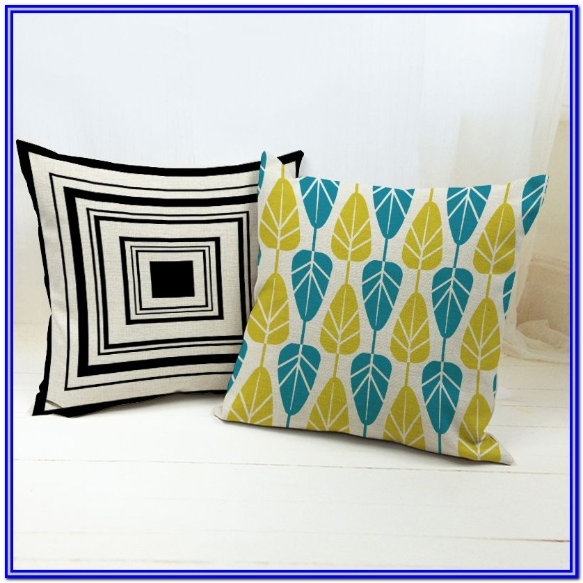 Yellow Throw Pillows For Bedroom