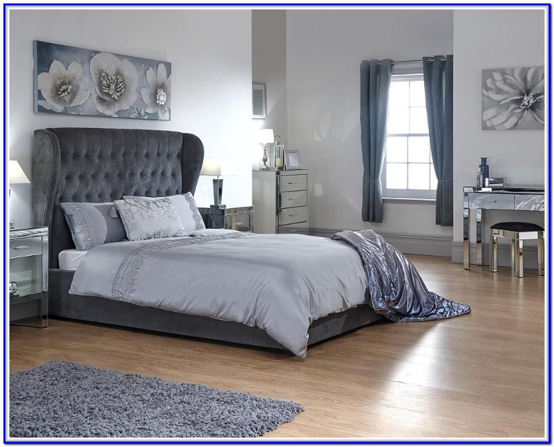 Yorkie Grey Fabric Ottoman Bed Frame 4ft6 Double