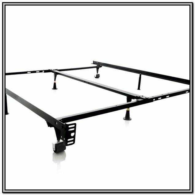 Adjustable Metal Bed Frame With Wheels