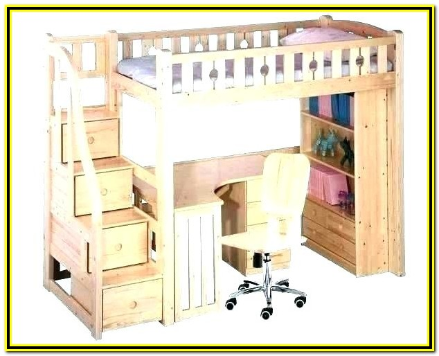 Alcester Twin Low Loft Bed With Desk And Storage