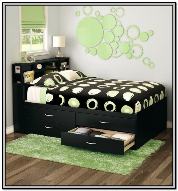 Bed Frames With Headboard Storage