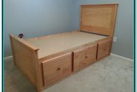Bed With Drawers Plans For Free