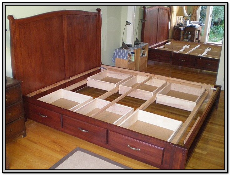 Diy King Size Bed Frame With Storage Underneath