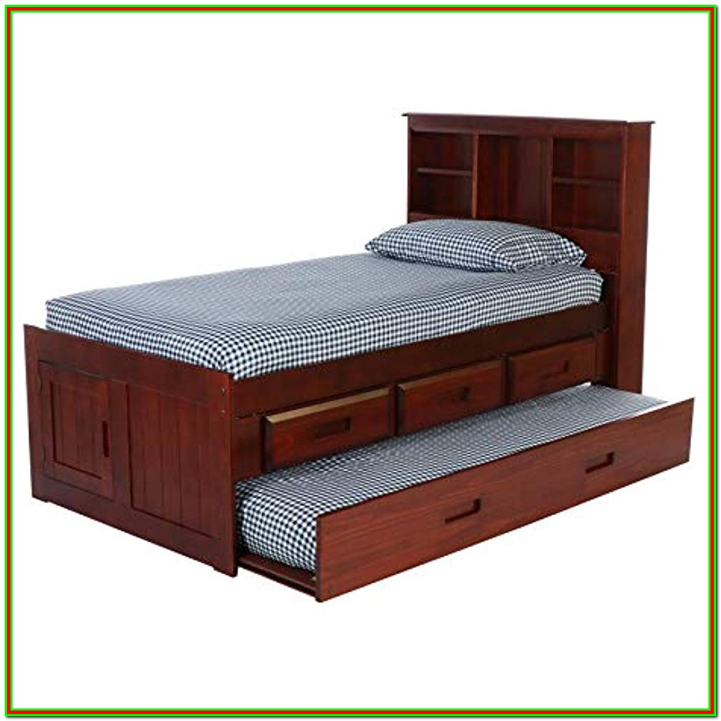 Double Bed Frame With Headboard Storage