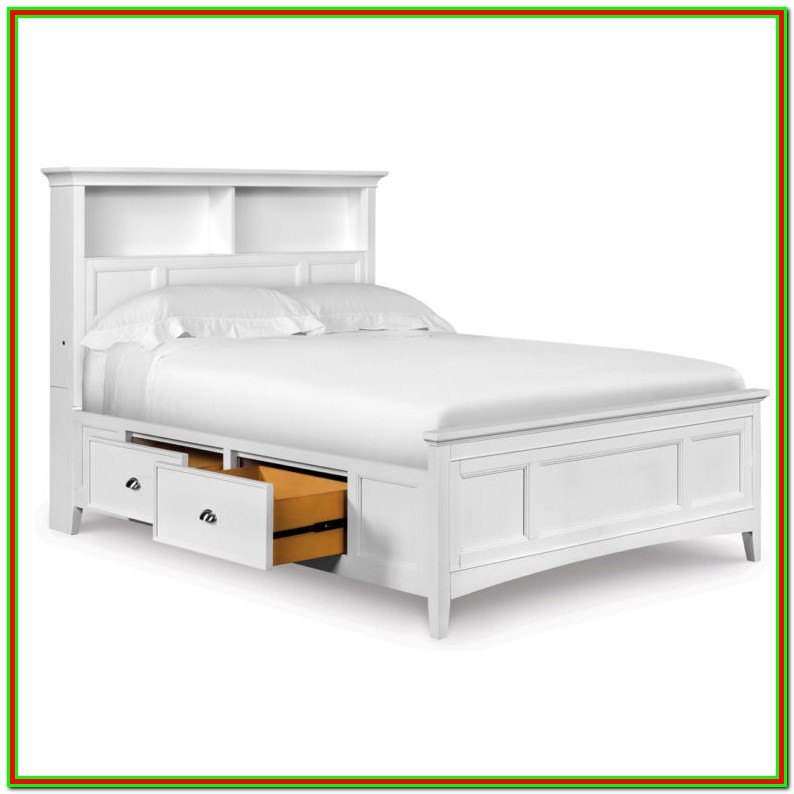 Full Size Bed Frame With Headboard Storage