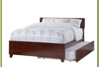 Full Size Platform Bed Frame With Trundle