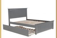 Full Size Platform Bed With Twin Trundle