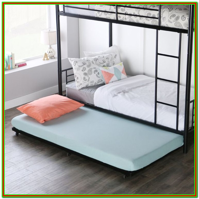 Full Size Rolling Trundle Bed Frame