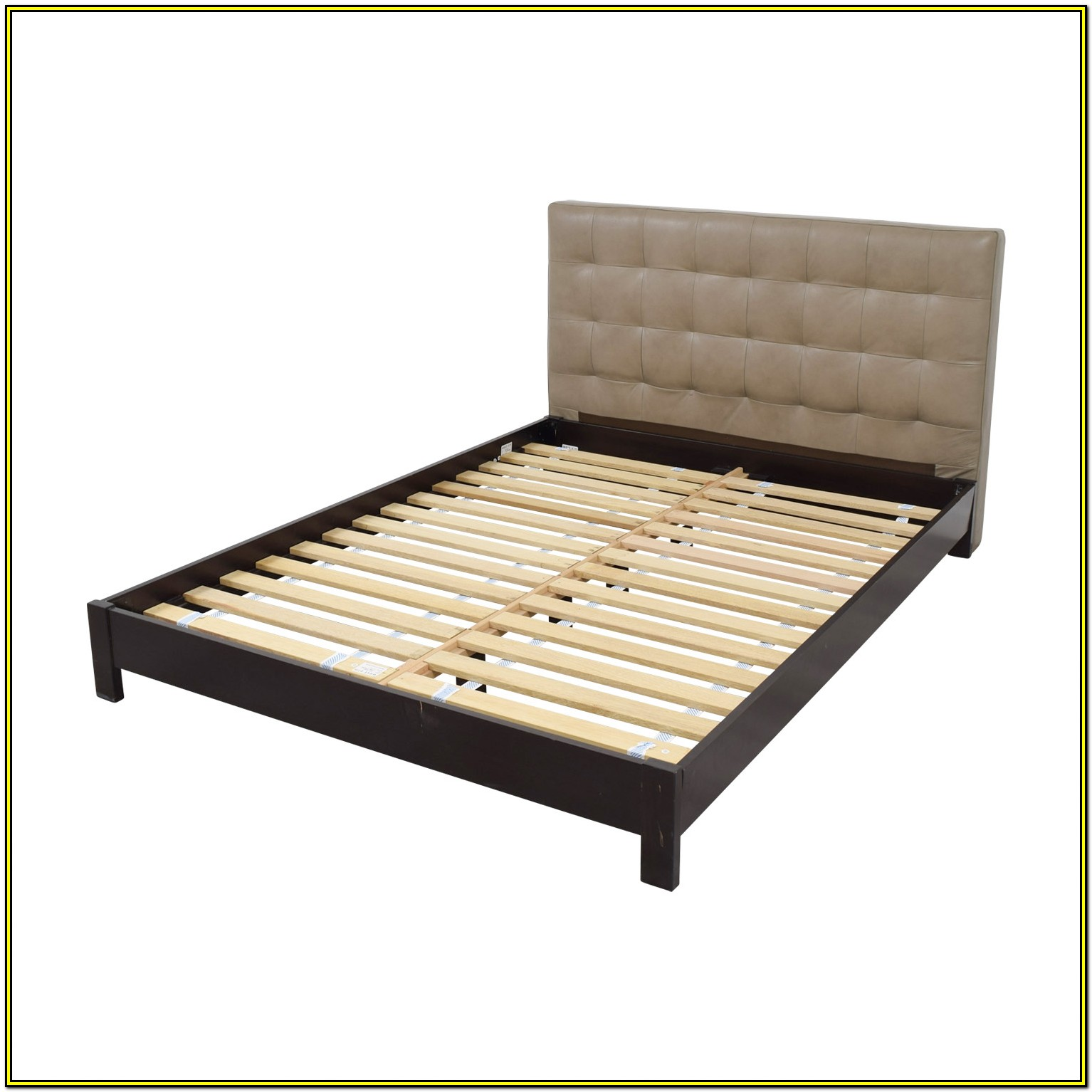 Grey Tufted Bed Frame Queen