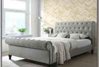 Grey Upholstered King Bed Canada