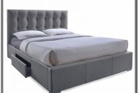 Grey Upholstered King Bed With Storage