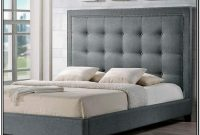 Grey Upholstered King Size Bed Frame